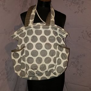 31 thirty one bag gray purse